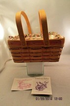Longaberger 1992 Mother's Day Basket with liner & Protector  - 2 handled... - $13.09