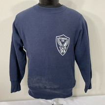 Vintage Champion Reverse Weave Sweatshirt Warm Up Jumper Crew Neck Navy ... - $29.99