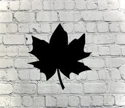 Metal art- 16 gauge steel in black- Falling Fall Leaf wall sign - $35.00