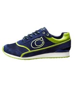 Womens Authentic COACH ROSIE Signature C Fashion Sneaker Lace Up Navy Lime  8.5 - $79.19