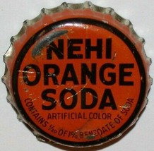 Vintage soda pop bottle cap NEHI ORANGE SODA cork lined in used condition - $6.99