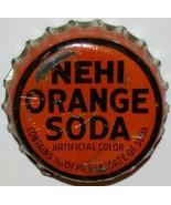 Vintage soda pop bottle cap NEHI ORANGE SODA cork lined in used condition - $6.99