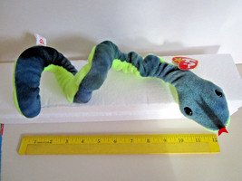 TY Beanie Babies HISSY Green Snake Plush Toy  1997 - $5.99