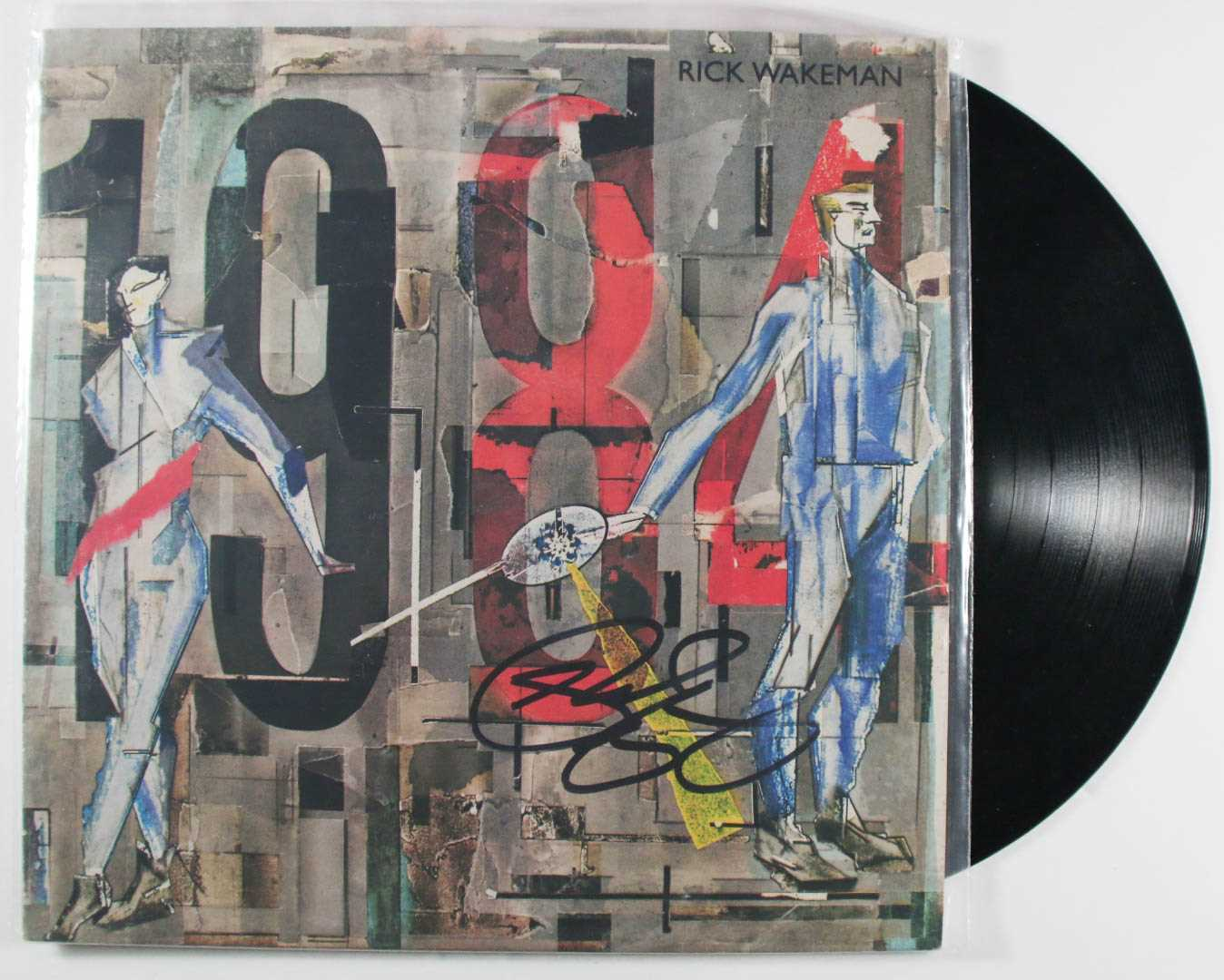"Primary image for Rick Wakeman Signed Autographed ""1984"" Record Album"