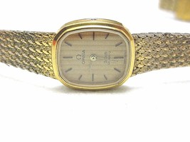 OMEGA SWISS MADE  LADY WATCH DeVille  GOLD ELECTROPLATED ORIGINAL - $331.20