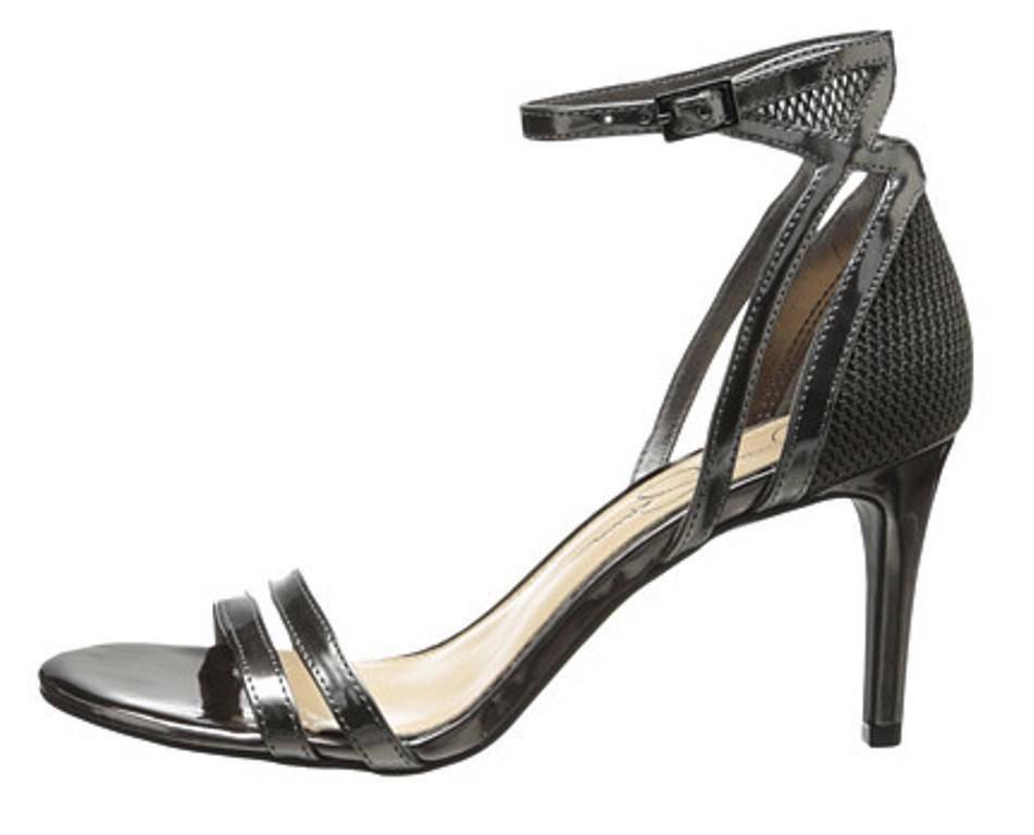 Primary image for Women's Shoes Jessica Simpson MAYETTA Dress Sandals Heels Gunmetal Liquid Metal