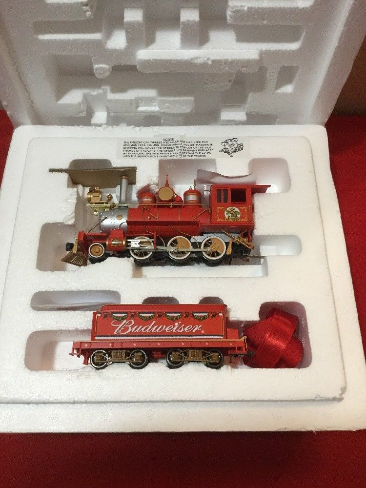 6aa25d378 Hawthorne Village Budweiser Holiday Express Train Set w  COA s Not Used