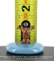 Stepping Stones Fairy Garden Terrarium Miniature Dog Chihuahua Pup on Turquoise image 2