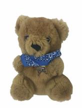 Beariff The Sheriff Teddy Bear Plush Stuffed Animal Brown Vintage 1986 A... - $21.77