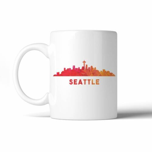 365 Printing Polygon Skyline Multicolor Downtown White Mug image 7
