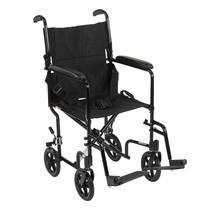 Drive Medical Lightweight Transport Wheelchair Black 17'' - $126.99