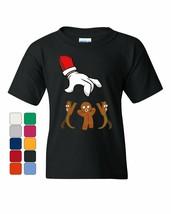 Santa Grabbing a Gingerbread Man Youth T-Shirt Christmas Xmas Holiday Ki... - $9.24+