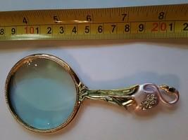 Edgar Berebi Flamingo Magnifying Glass Jeweled Gold Tone  - $78.35