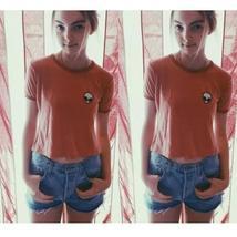 Summer Blouse Cut Print Blouses Lovely Round Neck Short Sleeve Shirt for Women A