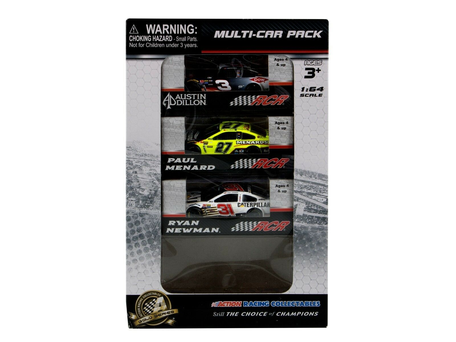 Paul Menard, Ryan Newman, Austin Dillon 2017 Multi Driver Bundle Pack 1:64 ARC -