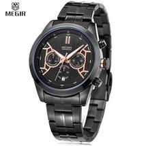 MEGIR 3016 Male Quartz Watch Chronograph 24 Hours Display Date Wristwatch - $36.83