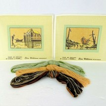 Elsa Williams Samuel Thorpe Boats Needle Point 2 Prints Kit Vtg Limited Edition - $59.39
