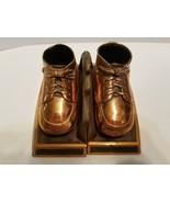 Antique Bronze Copper Baby Shoe Bootie Bookends - $15.79
