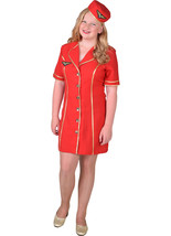 GIRLS  - Red Air Hostess Costume  - ages 8 to 14 - $37.82