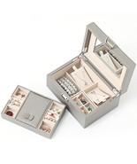 Wooden Jewelry Box, Jewelry Organizer and Storage- Grey - $110.34+