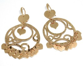 Drop Earrings 925 Silver, Hearts, Disco Perforated, Wavy, le Favole image 1