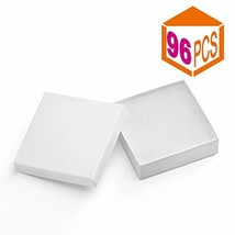 MESHA Jewelry Boxes 3.5x3.5x1 Inches Paper Gift Boxes White Cardboard Br... - $52.74