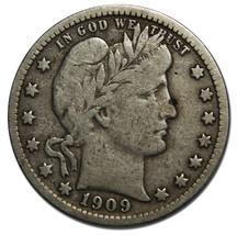 1909O Barber Quarter 25¢ Silver Liberty Head Coin Lot# MZ 3510