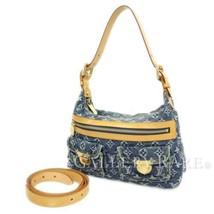 LOUIS VUITTON Baggy PM Monogram Denim Blue M95049 Shoulder Bag Authentic... - $718.34