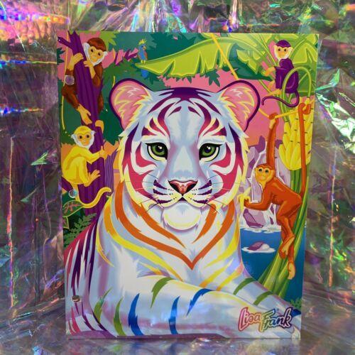 Lisa Frank Pocket Folder   Rainbow White Tiger Excellent Cond 90s Vintage