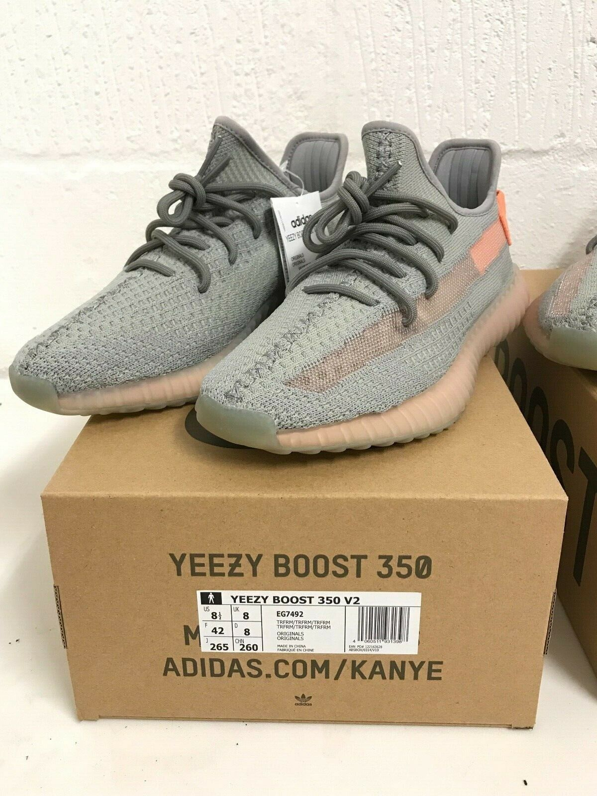 Adidas Yeezy Boost 350 V2  Grey TRFM EG7492 Sizes 3 4.5 5 5.5 6 static 3m 700 image 7