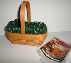 """Longaberger Small Parsley Booking Basket Green Cloth Liner Combo 2000 6"""" Long - $14.85"""
