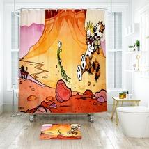 Cartoon 43 Shower Curtain Waterproof Polyester Fabric & Bath Mat For Bathroom - $15.30+