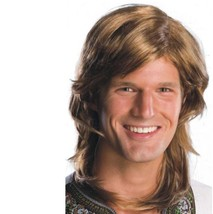 Wig - Adult - 70's Guy - Brown - Men Mens Long Hair Disco Shag Costume A... - $211,76 MXN