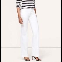 Ann Taylor LOFT 4 Sm S Dress Pant Sailor Anchor Button White Marisa Trou... - $29.95