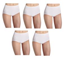 Vanity Fair Women's illumination Brief Panty 13109, 5 Pairs WHITE Size - 7 - $29.95