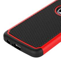 Red Hybrid Case for Motorola Moto E4 Plus - Hard Heavy Duty Cover USA & Fast! image 5