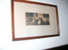 WALLACE NUTTING HAND COLORED INTERIOR PHOTOGRAPH PRINT - $70.00