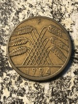 1924-F Germany 10 Rentenpfennig (10 Available) Circulated (1 Coin Only) - $4.00