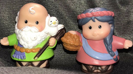 Noah's Ark Moses & Wife Grandma & Grandpa Set Lot - $24.74