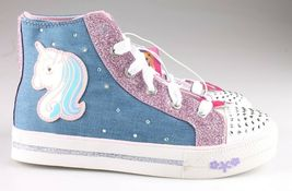 S Sport by Skechers Big Girls Pink Unicorn Raelynn Light-Up HiTop Shoes Sneakers image 5