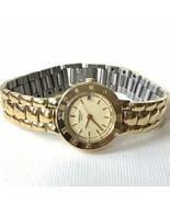 Bulova Caravelle 48G14 Women's Gold Quartz Date Watch Fresh Battery EXCE... - $39.60