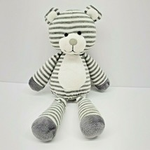 "Animal Adventure BEAR Gray White Stripe 11"" Floppy Plush Sweet Sprouts Stuffed - $33.85"