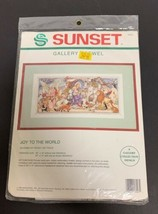 Joy To The World Sunset Counted Cross Stitch Kit 18023 Peggy Lee Toole Sealed - $18.69