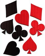 Lot 8 playing cards suits diamonds spades clubs poker applique iron-on p... - $9.89