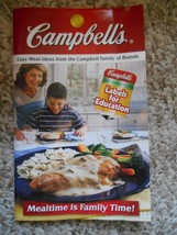 Older 2001 Recipes Cookbook Campbell's Easy Meals from Campbell Family of Brands - $9.99