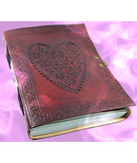 Haunted 14X LOVE MAGNIFIER JOURNAL HIGH MAGICK LEATHER BOUND WITCH CASSIA4 - $127.77