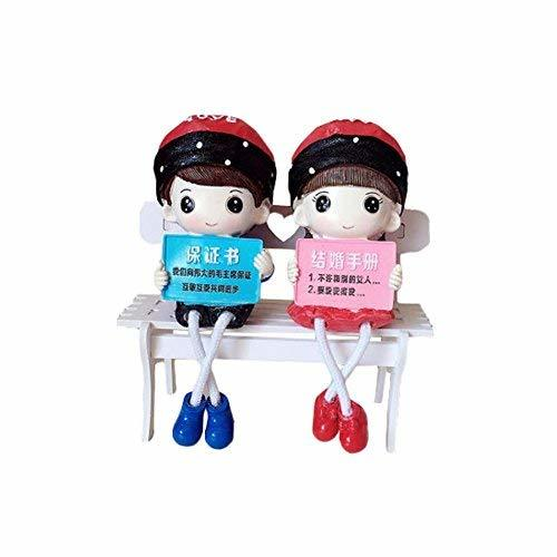 George Jimmy Creative Home Decorations Cute Cartoon Lovers Desktop Decorations C - $27.94