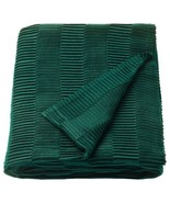 "Ikea VÄGMÅLLA VAGMALLA Soft Throw Pleated Blanket 47"" x 63"" Green - NEW - £27.05 GBP"