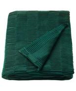 "Ikea VÄGMÅLLA VAGMALLA Soft Throw Pleated Blanket 47"" x 63"" Green - NEW - €32,15 EUR"