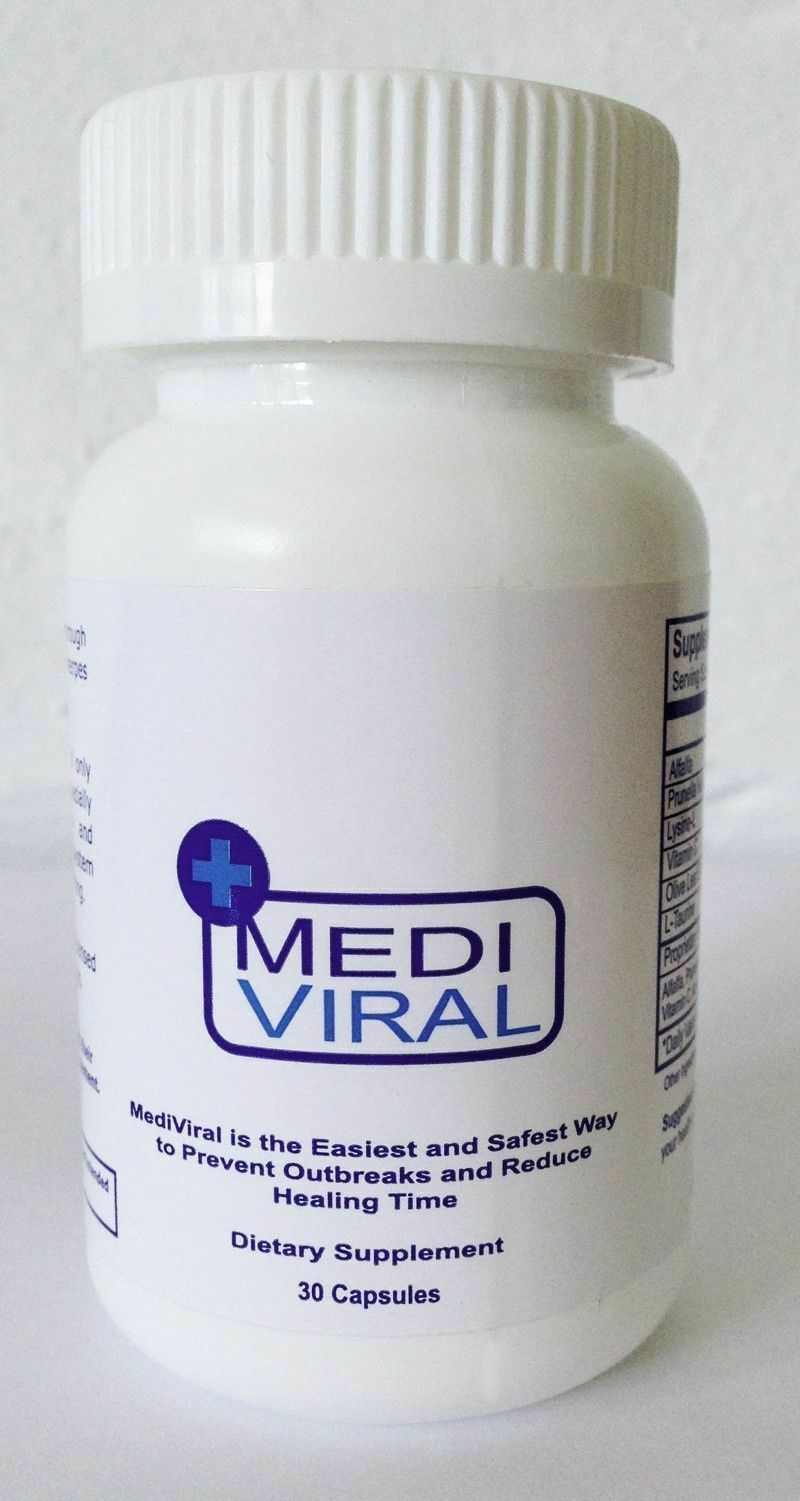 MediViral Extra Strength Herpes Daily Supplement AntiViral Remedy Shingles